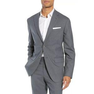 Nordstrom Mens Shop Suit Jacket Size 48R Trim Fit